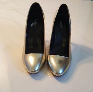 Gold-tone Kate Spade Saturday Heels
